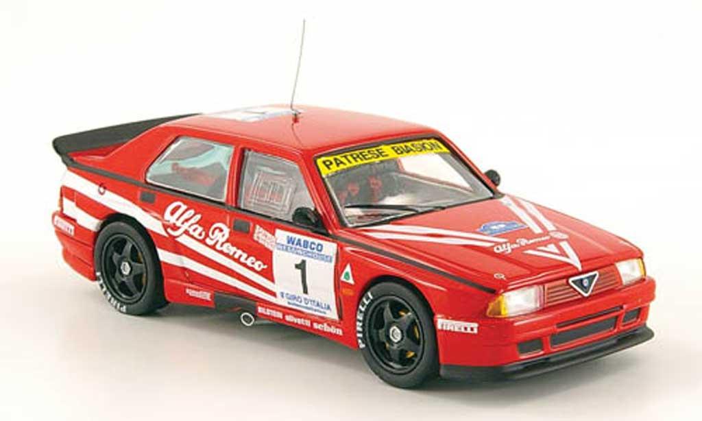 Alfa Romeo 75 Evoluzione 1/43 M4 Turbo No.1 Giro d Italia 1988 Patrese / Biasion / Saviero miniatura