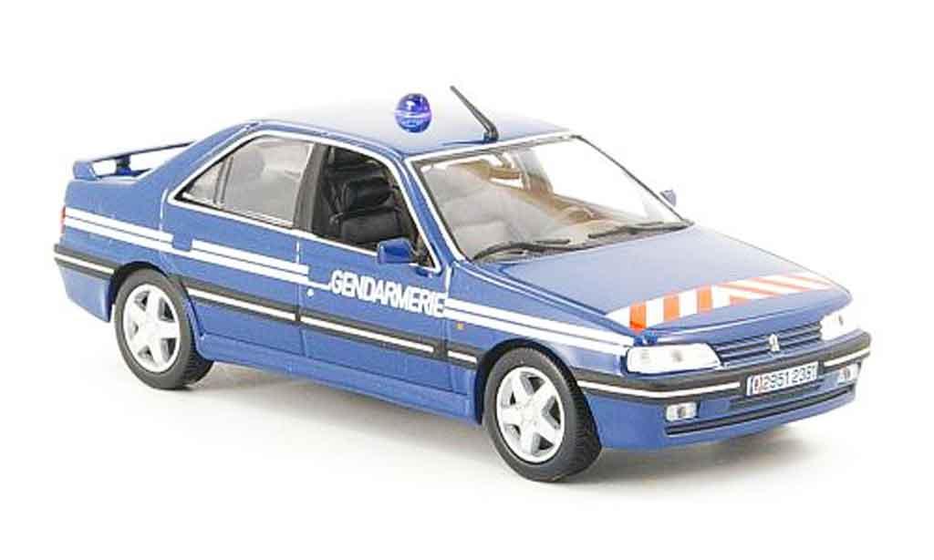 Peugeot 405 Turbo 16 1/43 Norev gendarmerie 1995 miniature
