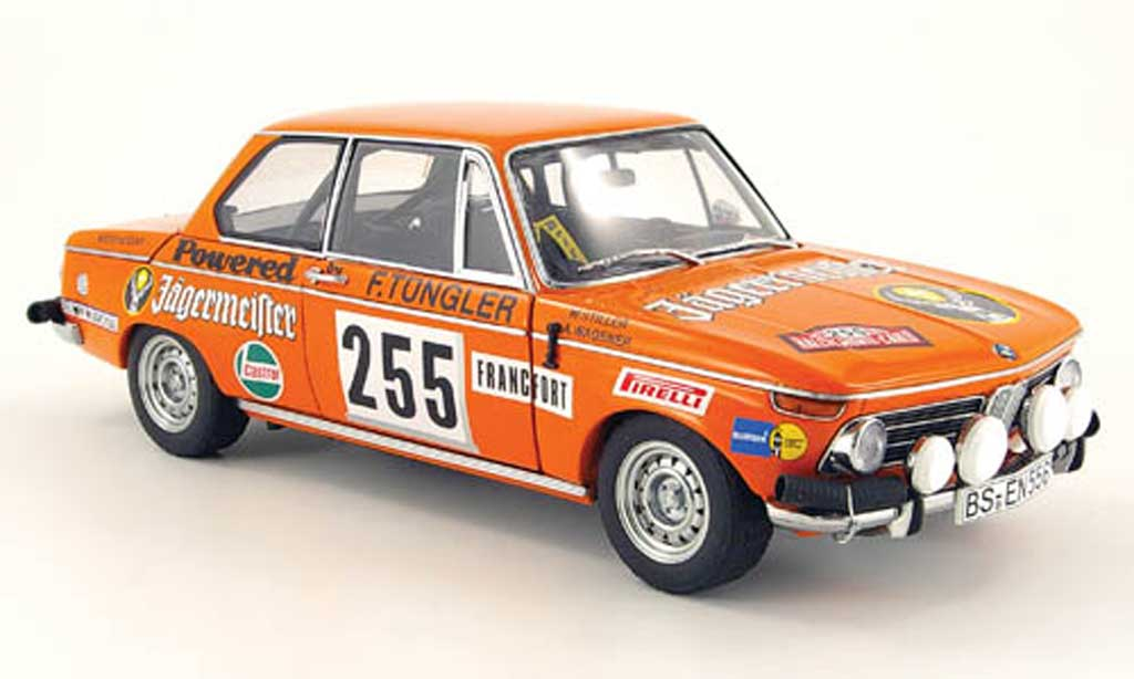 Bmw 2002 Tii 1/18 Autoart no.255 jagermeister rallye monte carlo 1973 miniature