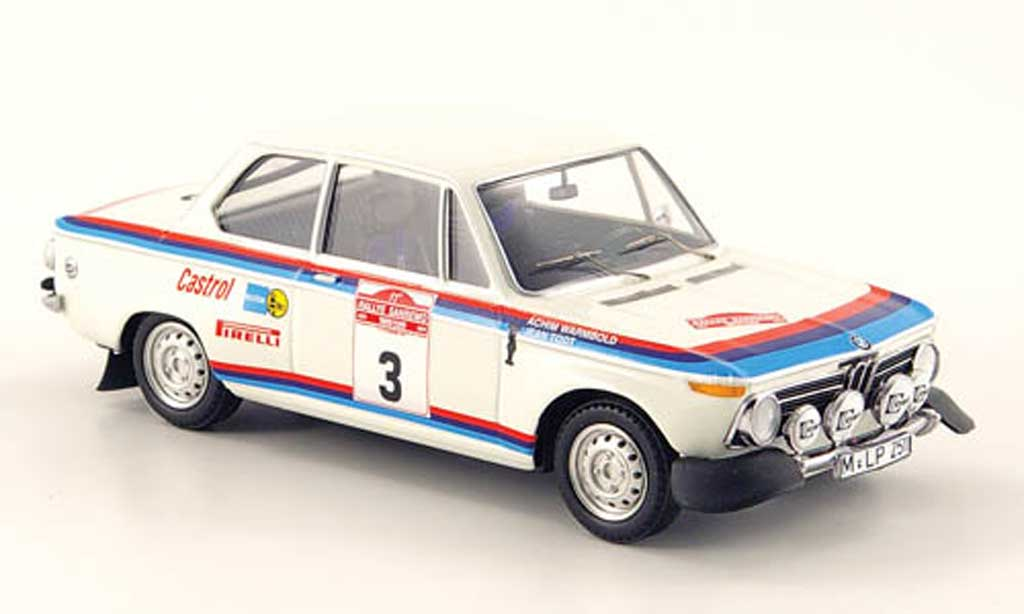 Bmw 2002 Ti 1/43 Trofeu No.3 Warmbold/Todt Rally San Remo 1973 miniature
