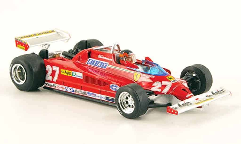 Ferrari 126 1981 1/43 Brumm CK turbo no.27 g.villeneuve gp italien miniature