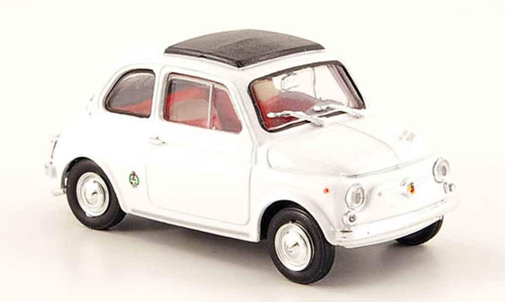 Fiat 595 1/43 Brumm SS Abarth blanche 1965 miniature