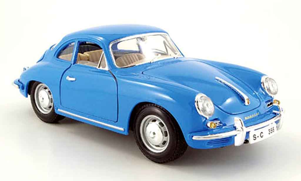 Porsche 356 1961 1/18 Burago B coupe bleu diecast model cars