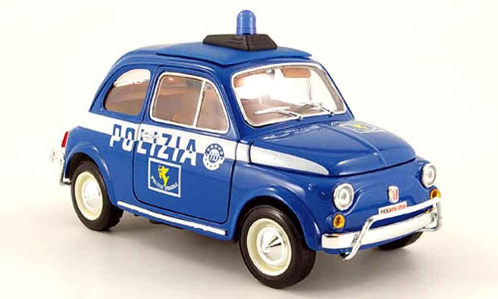 Fiat 500 1/18 Burago polizia polizei diecast