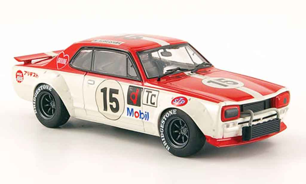 Nissan Skyline 2000 1/43 Ebbro GT R (KPGC10) Racing No.15 Fuji 1972 diecast model cars