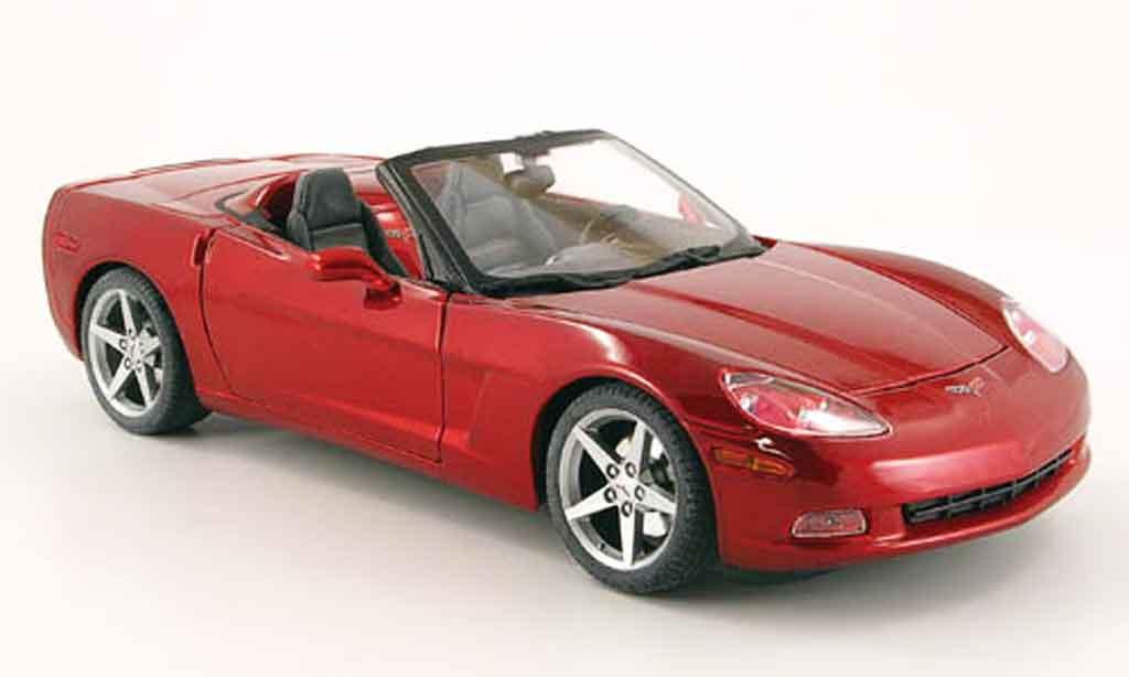 Chevrolet Corvette C6 1/18 Maisto cabrio red diecast