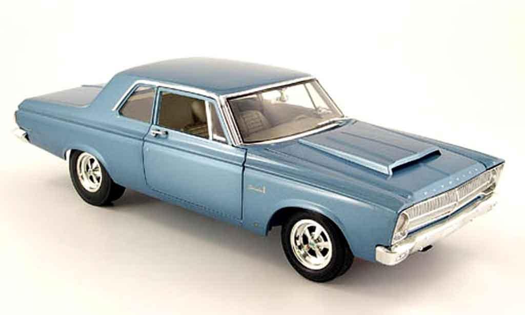 Plymouth Belvedere 1/18 Highway 61 hemi super stock dd1 bleu 1965 miniature