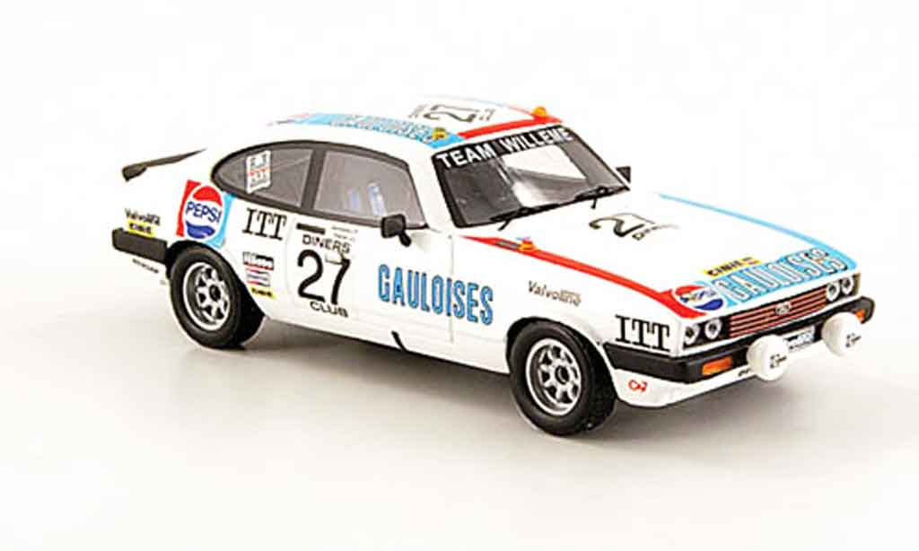 Ford Capri 1/43 Premium X MK III 3.0S No.27 Gauloises Pepsi 24h Spa 1980 miniature
