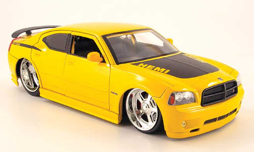 Dodge Charger Daytona 1/18 Jada Toys Toys r t daytona yellow black 2006 diecast model cars