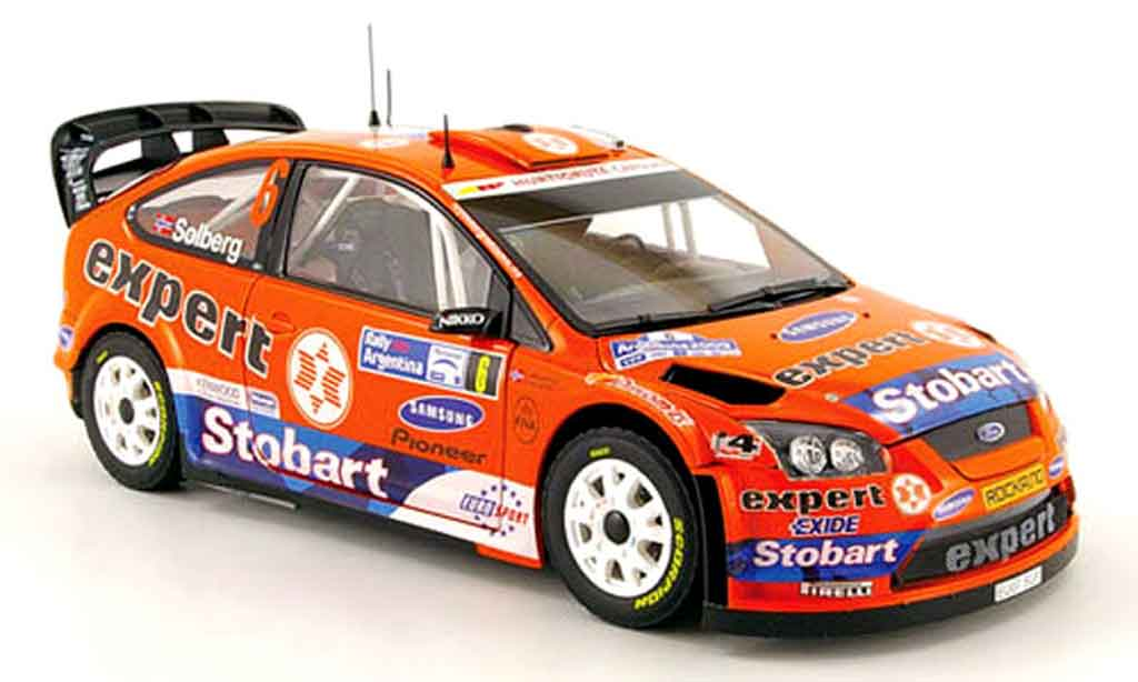 Ford Focus RS WRC 1/18 Sun Star 08 no.6 expert rallye argentinien 2009 miniature