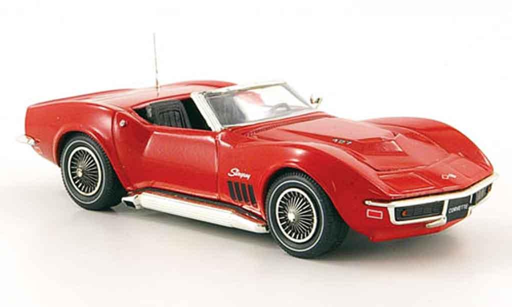Chevrolet Corvette C3 1/43 Sun Star 427 Cabriolet red 1968 diecast
