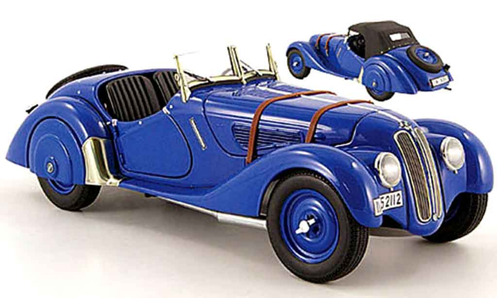 Bmw 328 1938 1/18 Autoart roadster bleu miniature