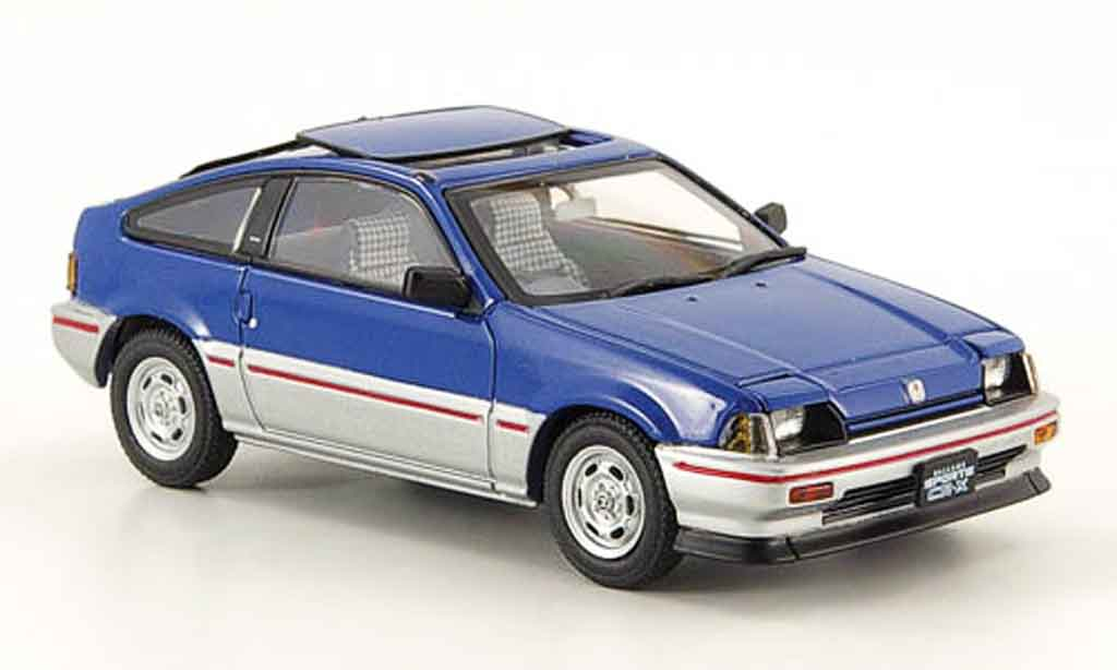 Honda CR-X Ballade 1/43 Ebbro Ballade 1.5i bleu grey metallisee 1983 diecast model cars