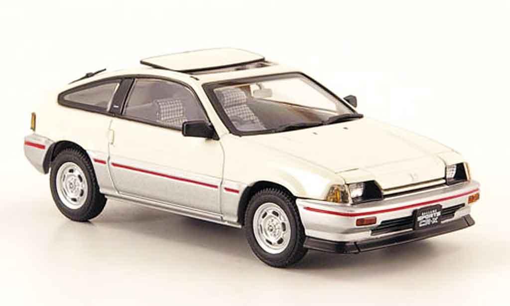 Honda CR-X Ballade 1/43 Ebbro Ballade 1.5i white grey metallisee 1983 diecast model cars