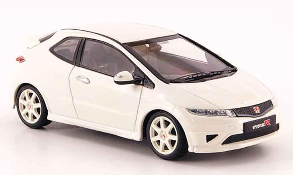 Honda Civic Type R 1/43 Ebbro blanche miniature