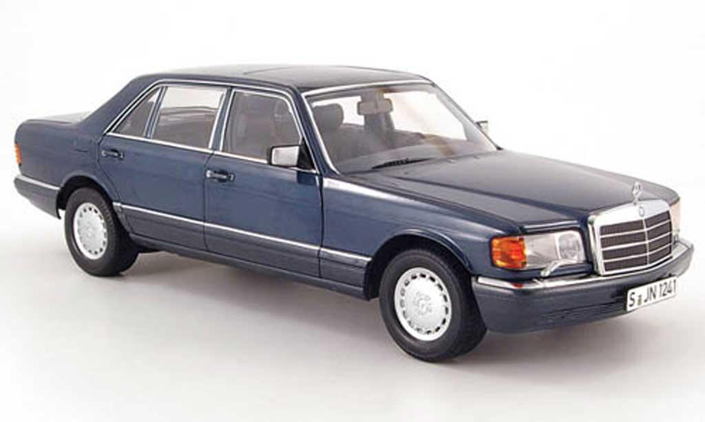 Mercedes 560 SEL 1/18 Norev (w126) bleugrise 1985 miniature