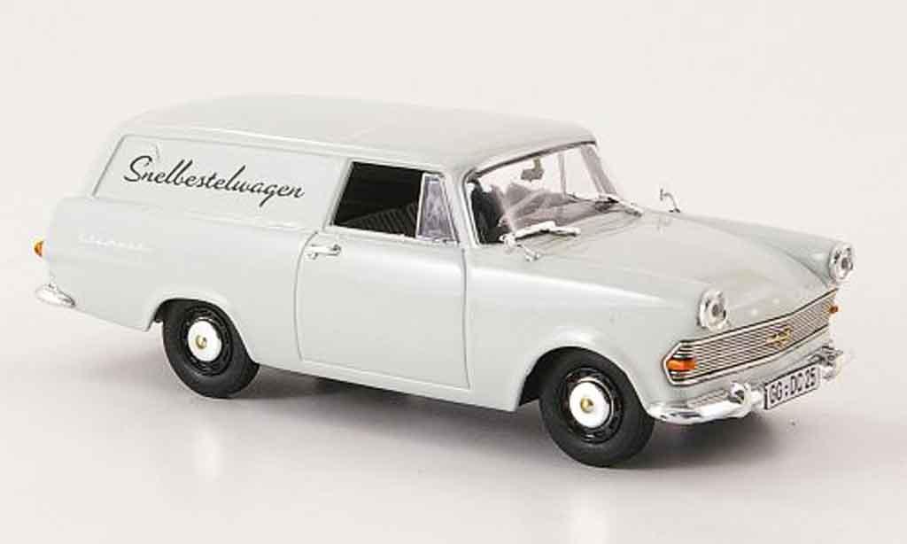 Opel Rekord 1/43 Bing p2 kasten snelbestelwagen miniature