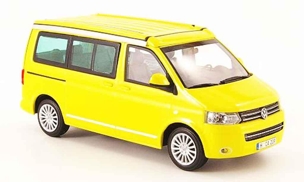 Volkswagen Combi 1/43 Minichamps t5 california jaune 2009 miniature