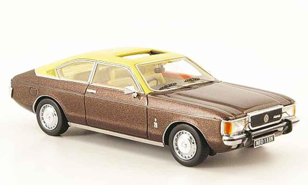 Ford Granada 1/43 Neo MK I Coupe (RHD) marron 1975 diecast model cars