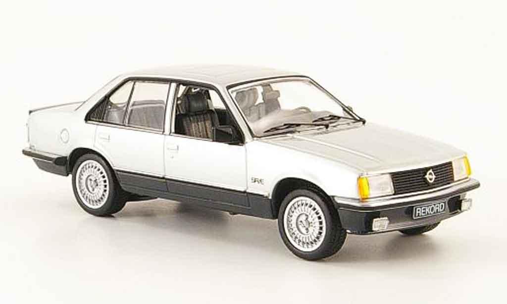 Opel Rekord 1/43 Schuco e sr e grise metallisee noire miniature