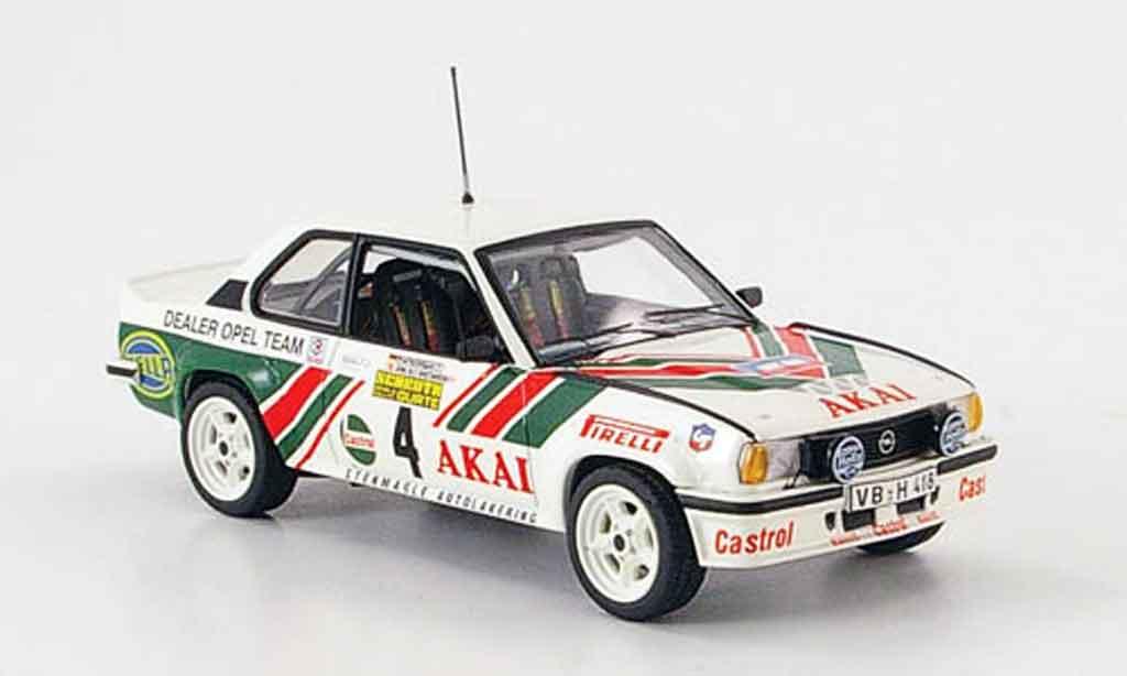 Opel Ascona B 1/43 Schuco 400 no.4 akai sachs winter rallye 1981 miniature