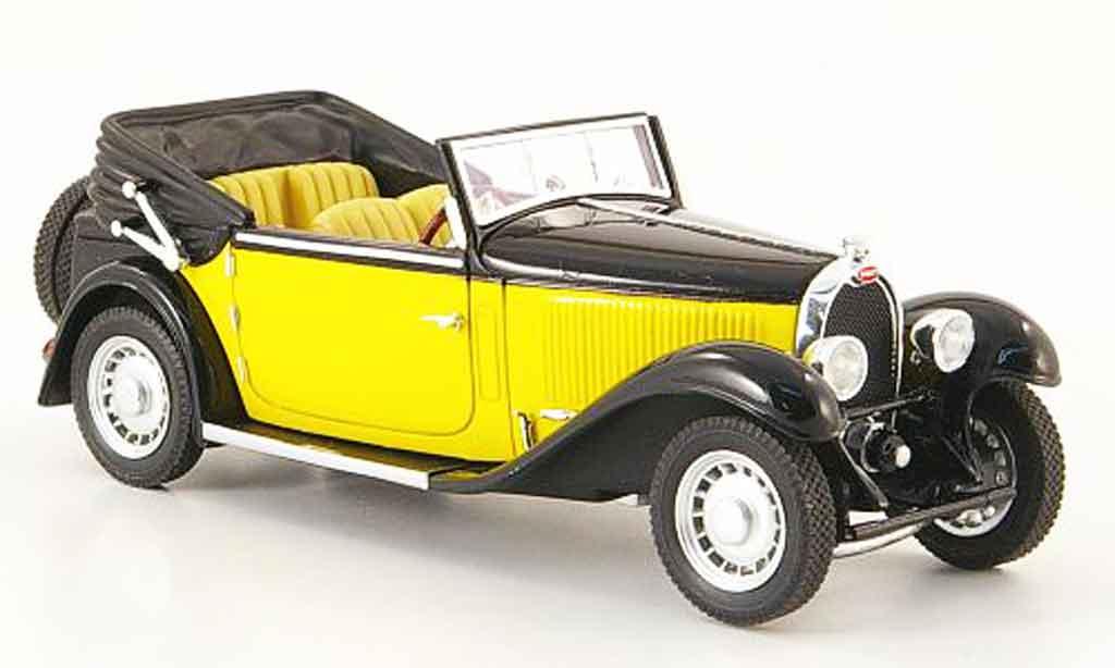 Bugatti Type 59 1/43 Luxcar cabriolet jaune noire 1934 miniature