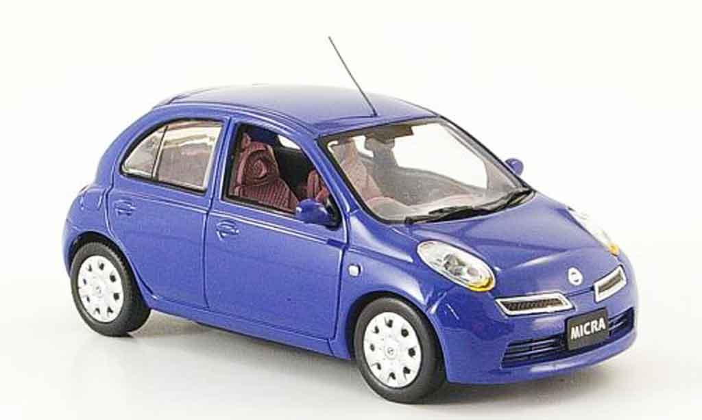 Nissan Micra 1/43 J Collection bleu Funfturer Rechtslenker 2007 modellautos