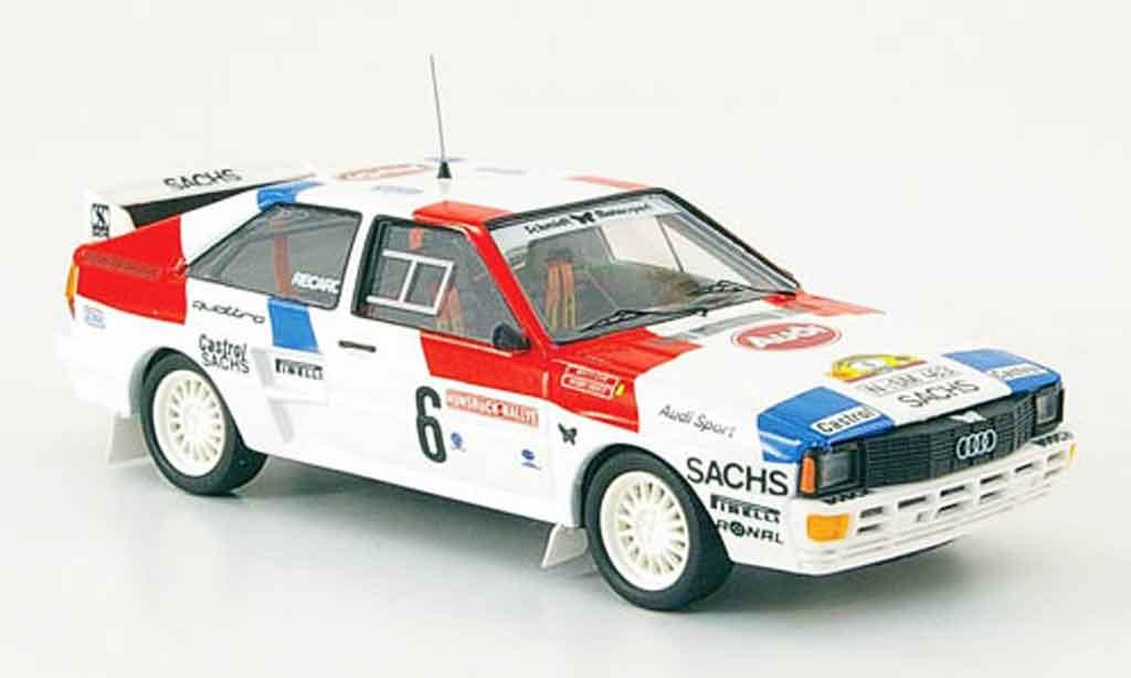 Audi Quattro 1/43 Trofeu No.6 Duez Lux Rally Hunsruck 1985 miniature