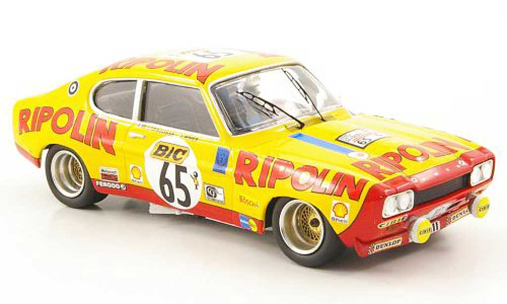 Ford Capri 2600 1/43 Trofeu MKI  No.65 Ripolin Tour Auto 1972 miniature