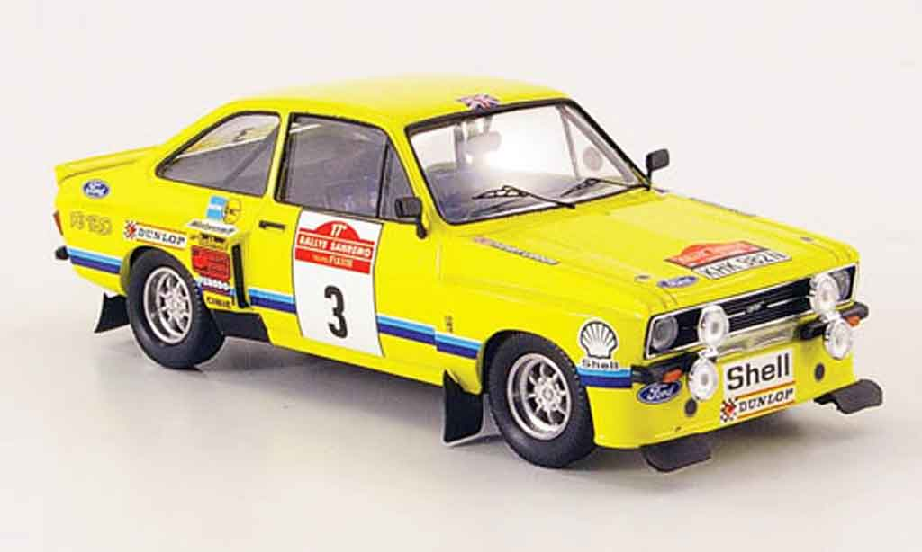 Ford Escort RS 1800 1/43 Trofeu Tarmac No.3 Rally San Remo 1975 MK2 miniature