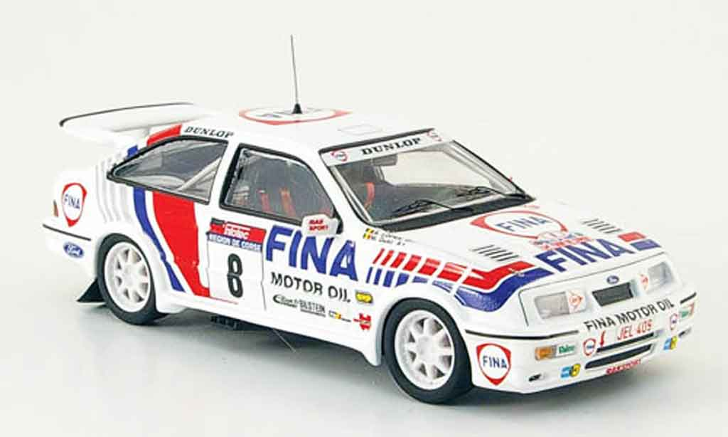 Ford Sierra Cosworth RS 1/43 Trofeu Cosworth No.8 Fina Rally Korsika 1990 diecast model cars