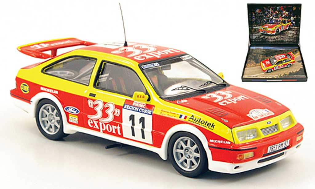 Ford Sierra Cosworth RS 1/43 Trofeu No.11 Export Rally Korsika 1987 miniature