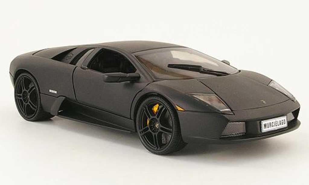 Lamborghini Murcielago 1/18 Welly noire matt miniature