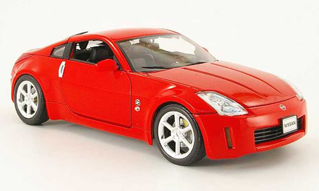 Nissan 350Z 1/18 Welly coupe rouge 2003 miniature