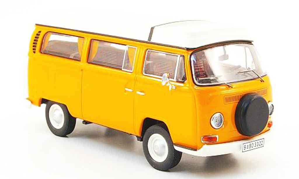 Volkswagen Combi 1/43 Premium Cls t2a camping orange blanche miniature
