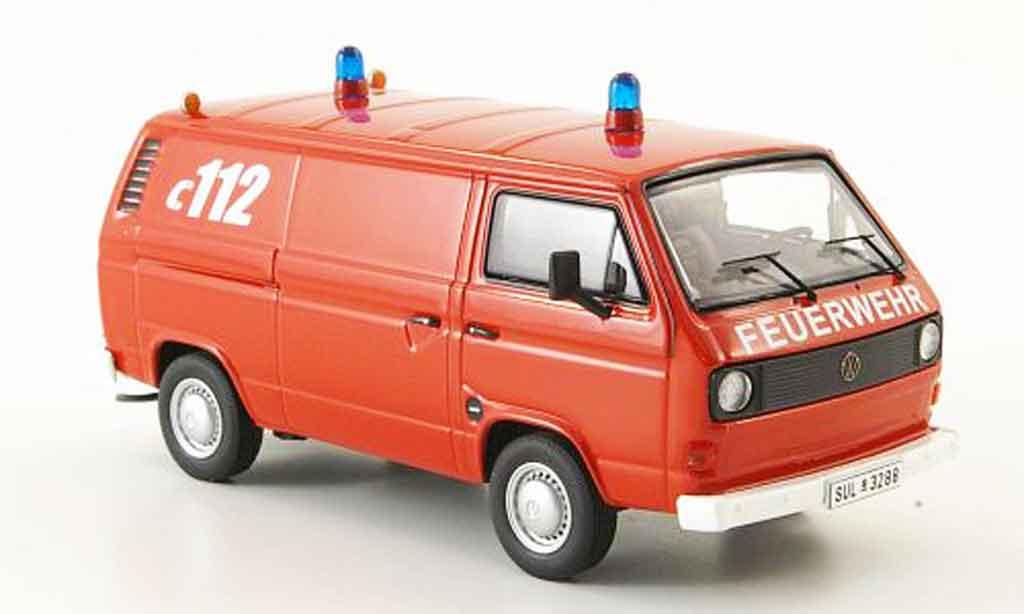 Volkswagen Combi 1/43 Premium Cls t3a kasten pompier miniatura