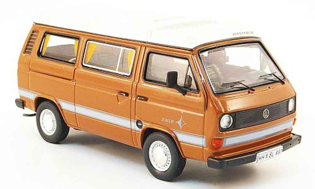 Volkswagen Combi 1/43 Premium Cls t3a westfalia joker marron blanche miniature