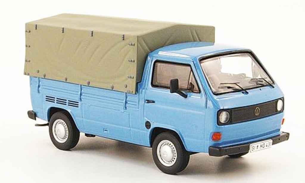 Volkswagen Combi 1/43 Premium Cls t3a pritsche bleu miniature