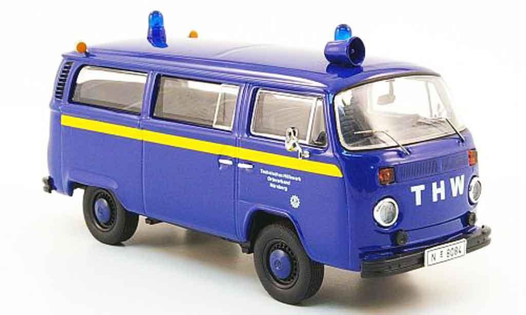 Volkswagen Combi 1/43 Premium Cls t2b bus thw nurnberg azul amarillo miniatura