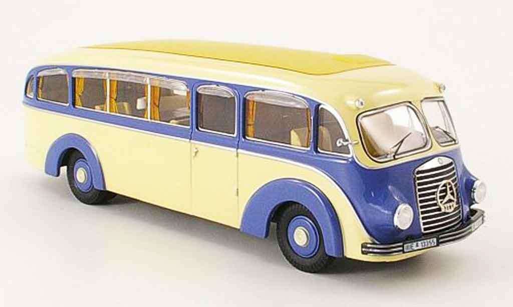 Mercedes L3500 1/43 Premium Cls Stromlinienbus bleu beige miniature