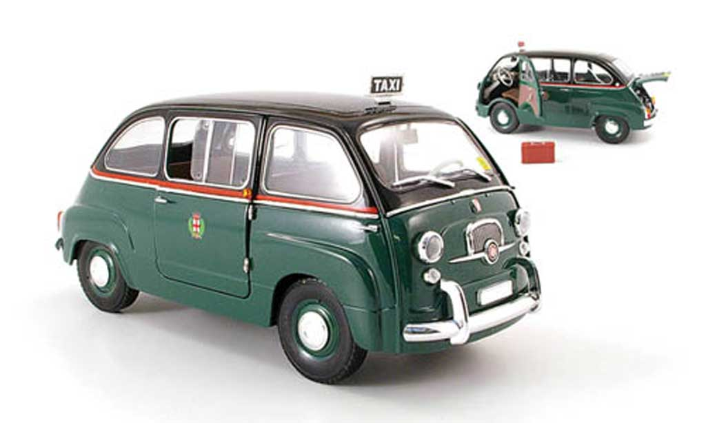 Fiat 600 1/18 Mini Miniera multipla taxi mailand ohne dachgepacktrager miniature