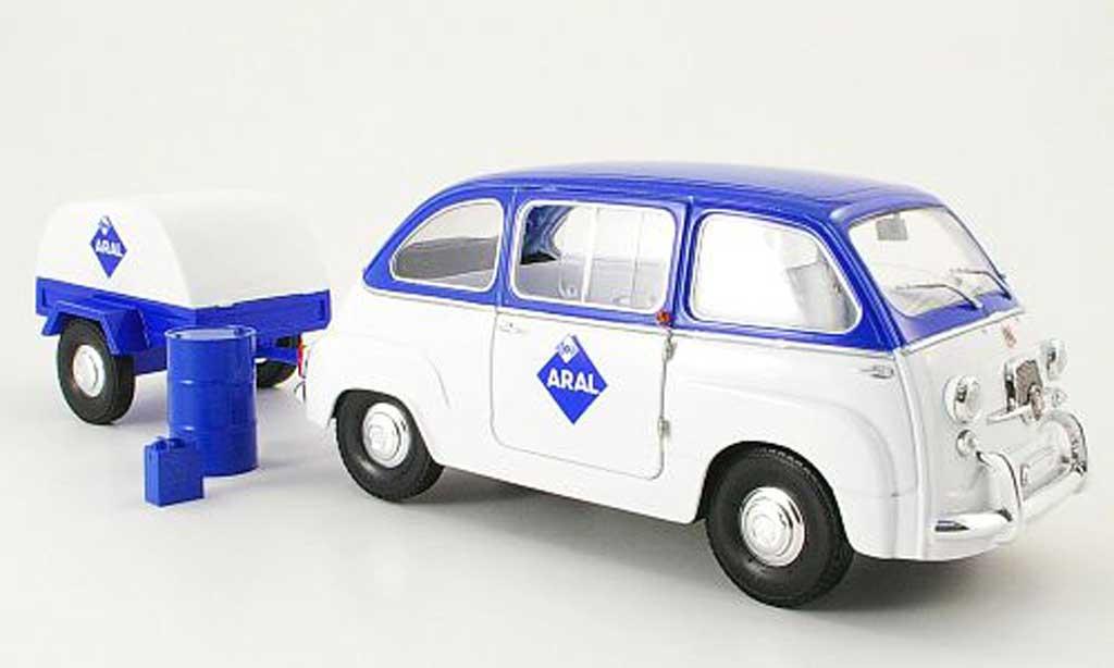 Fiat 600 1/18 Mini Miniera multipla aral avec anhanger miniature