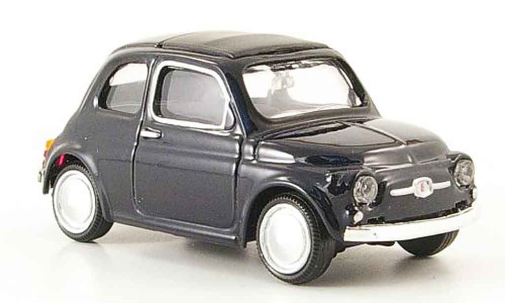 Fiat 500 1/43 Mondo Motors black 1957 diecast model cars