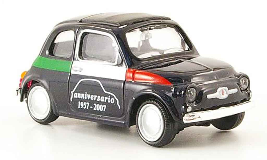 Fiat 500 1/43 Mondo Motors Anniversario black 1957 diecast model cars