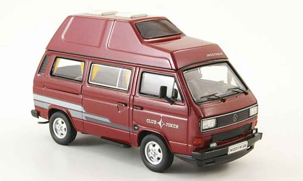 Volkswagen Combi 1/43 Premium Cls t3b westfalia club joker rojo hochdachbus coche miniatura