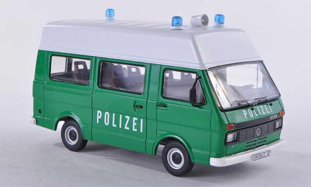 Volkswagen LT28 1/43 Premium ClassiXXs bus toit sureleve police vert miniature