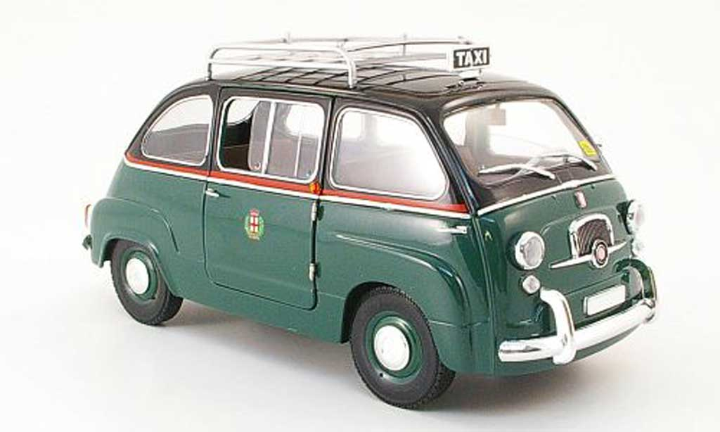Fiat 600 1/18 Mini Miniera multipla taxi avec gepacktrager diecast