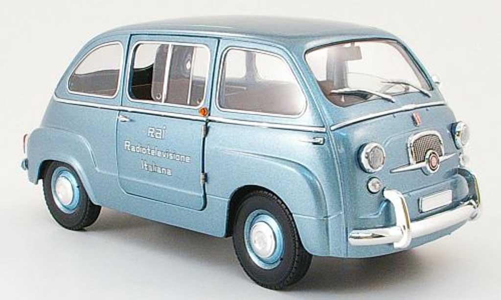 Fiat 600 1/18 Mini Miniera multipla rai - radiotelevisione italiana 1960 diecast