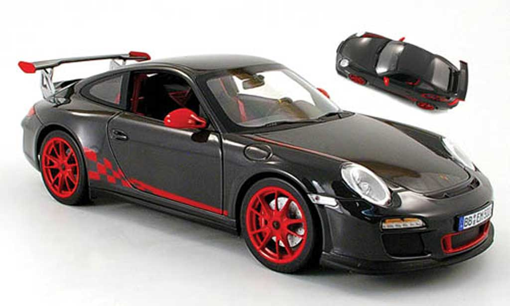 Porsche 997 GT3 RS 1/18 Norev 2009 grey/red diecast model cars