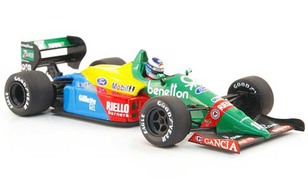Ford F1 1990 1/43 Minichamps Benetton B188 No.19 M.Hakkinen Test Silverstone miniature